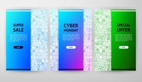 Σχέδιο φυλλάδιων Δευτέρας Cyber Στοκ φωτογραφία με δικαίωμα ελεύθερης χρήσης