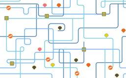 Σχέδιο χαρτών διαδρομών Υπόβαθρο πόλεων οδικών χαρτών επίσης corel σύρετε το διάνυσμα απεικόνισης απεικόνιση αποθεμάτων