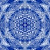 Σχέδιο χειμερινών ήλιων Mandala με το λεκιασμένο αστέρι Στοκ Φωτογραφία