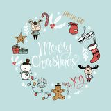 Σχέδιο χειμερινών διακοπών Χριστούγεννα Στοκ φωτογραφία με δικαίωμα ελεύθερης χρήσης