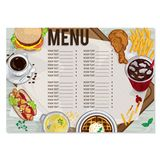 Σχέδιο χεριών σχεδίου προτύπων εστιατορίων τροφίμων επιλογών γραφικό Στοκ Φωτογραφία