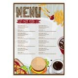 Σχέδιο χεριών σχεδίου προτύπων εστιατορίων τροφίμων επιλογών γραφικό Στοκ εικόνα με δικαίωμα ελεύθερης χρήσης