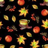 Σχέδιο χεριών φθινοπώρου διανυσματική απεικόνιση