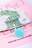 σχέδιο χρημάτων βασικών σπι& Στοκ φωτογραφίες με δικαίωμα ελεύθερης χρήσης