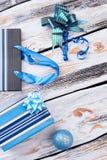 Σχέδιο Χριστουγέννων στο ξύλινο υπόβαθρο Στοκ εικόνα με δικαίωμα ελεύθερης χρήσης