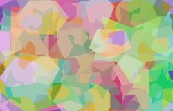 Σχέδιο χρώματος με τα πολύγωνα της ανώμαλης μορφής διανυσματική απεικόνιση