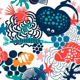 Σχέδιο ψαριών θάλασσας Στοκ Εικόνες