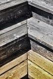 Σχέδιο ψαροκόκκαλων των ξύλινων σκαλοπατιών Στοκ Φωτογραφία