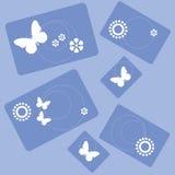 Σχέδιο 001 ορθογωνίων λουλουδιών πεταλούδων Στοκ Εικόνα