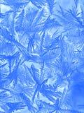 Σχέδιο Hoarfrost στο παράθυρο Στοκ Φωτογραφίες