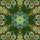 Σχέδιο Mandala για παράδειγμα για το βιβλίο για τους ενηλίκους Η σελίδα για χαλαρώνει και περισυλλογή Μεξικάνικο κεραμίδι για κερ ελεύθερη απεικόνιση δικαιώματος