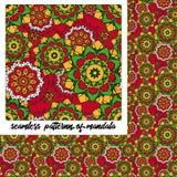 Σχέδιο Mandala στο κόκκινο Στοκ φωτογραφία με δικαίωμα ελεύθερης χρήσης