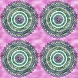 Σχέδιο Mandala Watercolor στοκ εικόνα με δικαίωμα ελεύθερης χρήσης