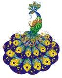 Σχέδιο Peacock φαντασίας ελεύθερη απεικόνιση δικαιώματος