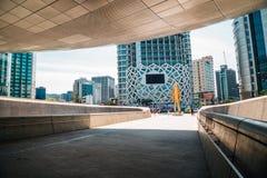 Σχέδιο Plaza, σύγχρονη αρχιτεκτονική DDP Dongdaemun στη Σεούλ, Κορέα Στοκ Εικόνες