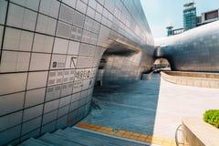 Σχέδιο Plaza, σύγχρονη αρχιτεκτονική DDP Dongdaemun στη Σεούλ, Κορέα Στοκ Φωτογραφία
