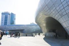 Σχέδιο Plaza DDP Dongdaemun στη Σεούλ, Νότια Κορέα Στοκ Εικόνα