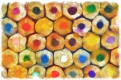 Σχέδιο Watercolor - ζωή μολυβιών χρώματος ακόμα στην ηλιόλουστη ημέρα Στοκ εικόνα με δικαίωμα ελεύθερης χρήσης