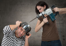 Σχέσεις ζεύγους - έννοια σύγκρουσης Στοκ Εικόνες