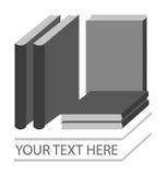 Εικονίδιο και λογότυπο βιβλίων ελεύθερη απεικόνιση δικαιώματος