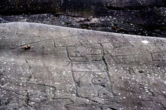 Σχέδια βράχου σε Valcamonica 17 Στοκ Εικόνα