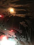 Σχέδια γυαλιού που σύρονται από τον παγετό στοκ φωτογραφίες με δικαίωμα ελεύθερης χρήσης