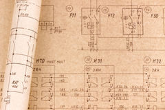 σχέδια ηλεκτρικά Στοκ Εικόνες