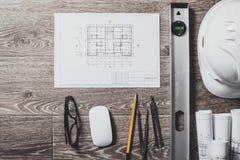 Σχέδια και εργαλεία προγράμματος Στοκ φωτογραφία με δικαίωμα ελεύθερης χρήσης