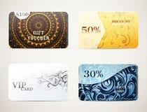 Σχέδια καρτών δώρων καθορισμένα Στοκ φωτογραφία με δικαίωμα ελεύθερης χρήσης