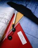 σχέδια κατασκευής Στοκ Εικόνες