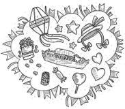 Σχέδια κομμάτων Ιουνίου Handrawing Στοκ φωτογραφίες με δικαίωμα ελεύθερης χρήσης
