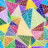 Σχέδια με τα φύλλα και το αφηρημένο διακοσμητικό ele Στοκ Εικόνα