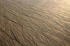 Σχέδια νερού στην άμμο Στοκ φωτογραφία με δικαίωμα ελεύθερης χρήσης