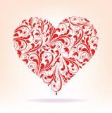 Σχέδια της κόκκινης καρδιάς Στοκ Εικόνες