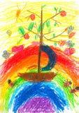σχέδια s παιδιών Στοκ φωτογραφίες με δικαίωμα ελεύθερης χρήσης
