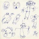 σχέδια s παιδιών διανυσματική απεικόνιση