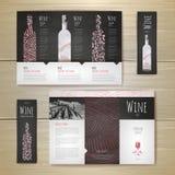 Σχέδιο έννοιας κρασιού Watercolor διάνυσμα προτύπων επιχειρησιακής εταιρικό ταυτότητας έργων τέχνης ελεύθερη απεικόνιση δικαιώματος