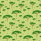 Σχέδιο δέντρων σαβανών διανυσματική απεικόνιση