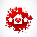 Σχέδιο αγάπης ακίνητων περιουσιών Στοκ φωτογραφία με δικαίωμα ελεύθερης χρήσης