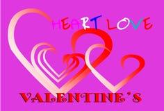 Σχέδιο αγάπης καρτών Στοκ Φωτογραφία