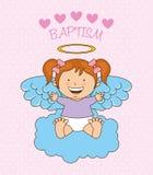 Σχέδιο αγγέλου βαπτίσματος διανυσματική απεικόνιση