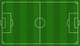 Σχέδιο αγωνιστικών χώρων ποδοσφαίρου Στοκ Φωτογραφία