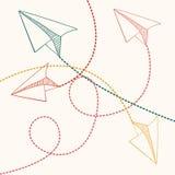 Σχέδιο αεροπλάνων εγγράφου απεικόνιση αποθεμάτων