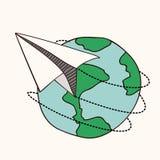 Σχέδιο αεροπλάνων εγγράφου διανυσματική απεικόνιση