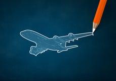 Σχέδιο αεροπλάνων Στοκ εικόνες με δικαίωμα ελεύθερης χρήσης