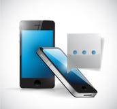 Σχέδιο απεικόνισης έννοιας τηλεφωνικής επικοινωνίας Στοκ εικόνα με δικαίωμα ελεύθερης χρήσης