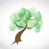 Σχέδιο απεικόνισης δακτυλικών αποτυπωμάτων οικογενειακών δέντρων Στοκ Εικόνες