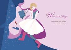 Σχέδιο απεικόνισης ημέρας γυναικών ` s διανυσματική απεικόνιση