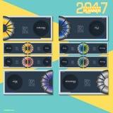 Σχέδιο απεικόνισης ημερολογιακών αρμόδιων για το σχεδιασμό 2017 διανυσματικό Στοκ Εικόνες
