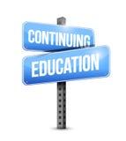 Σχέδιο απεικόνισης οδικών σημαδιών συνεχιμένος εκπαίδευσης διανυσματική απεικόνιση